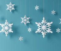 Sněhové vločky - vánoční vystřihovánky