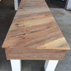 Recycled pallets and fence palings bench seat - love it!