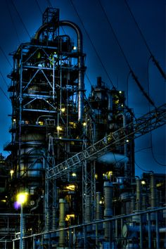 power line-factory by Ken Okamoto on 500px