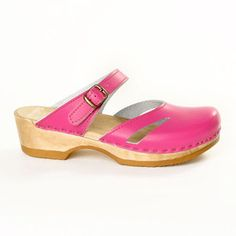 Side Slit Clog Low Fuchsia, $115, now featured on Fab.