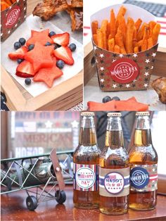 Vintage Americana 4th July Party BBQ  #4thJuly #independenceDay #USA #party #partyideas #printables #partyprintables #decorations #food #recipes #redwhiteblue