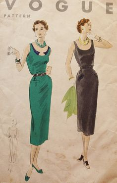 Vintage Sewing Pattern 1950s  One Piece by BluetreeSewingStudio, $18.00