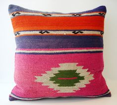 Hand Woven Turkish Kilim Pillow Cover