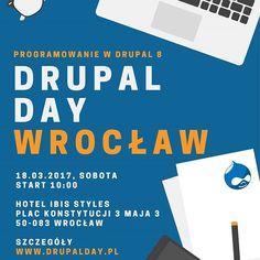 www.drupalday.pl #droptica #drupal #drupal8 #szkolenie #konferencja #it #webdeveloper #tester #programista #strona #www #hotel #wroclove #wroclaw #krakow #drupalday #infographic #instagraphic #instaphoto #blue #orange #website #code #cms #frontend #nauka #ibis #sobota #stronainternetowa #ceo