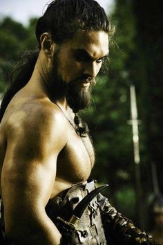 Jason Momoa as Khal Drago the Powerful Warlord of the fearsome Dothraki | Game of Thrones