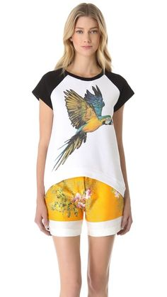 No. 21 #Parrot Sweatshirt with Short Sleeves