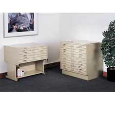 """SAFCO Closed Base for 5-Drawer Steel Flat Files - 6""""H - Fits 40-3/8 x29-3/8 x16-1/2"""" Files - Gray #LibraIndustries #Manufacturing www.librami.com"""