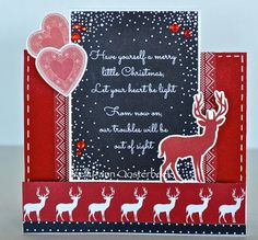 A step card by Kelly-ann Oosterbeek made using the North Pole collection from Kaisercraft. Merry Little Christmas, Christmas Cards, Step Cards, North Pole, Handmade Cards, Ann, Card Making, Scrapbook, Paper