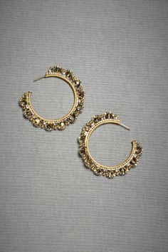 Curved Composition Hoops | Wedding Bridal Jewelry
