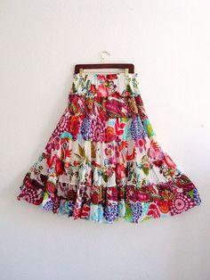 Gypsy Maxi Skirt Medium  bohemian  Tribal Ethical by KheGreen