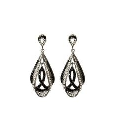 Another great find on #zulily! Crystal & Jet Black Gotham Chandelier Earrings by Amrita Singh #zulilyfinds