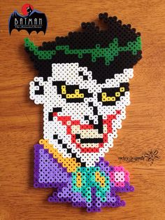 The Joker  (From Batman: The Animatec Series) - Perler Bead Creation by RockerDragonfly
