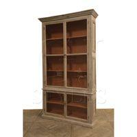 "Glass Door Cabinet Natural Sienna Shelf $1,595.00 110""H x 17.5""D x 65""W *saw at HP"