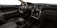 Tesla Motors: Model S - electric car - check out that touchscreen!