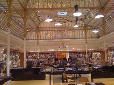 Book section of Bon Marche department store in Paris
