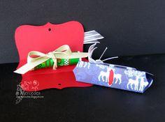 Lip Balm packaging using SU punch & some ribbon