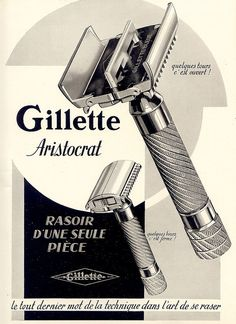 gillette >> amazing razor illustration!