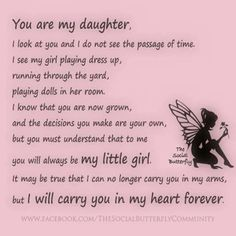 ❤My daughter, my friend, my love, my life.She is My daughter️ Letter To My Daughter, Mom Quotes From Daughter, Birthday Quotes For Daughter, I Love My Daughter, My Beautiful Daughter, Mother Daughter Poems, Mother Family, Future Daughter, Daddy Daughter