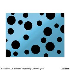 Black Dots On Blended SkyBlue Poster