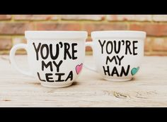 star wars mug you're my han you're my leia valentines day gift han solo princess leia gift by astraychalet