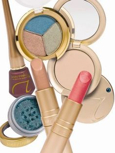Jane Iredale - the only makeup I wear! Pressed mineral powder, blush & long lasting lipstick/gloss.  The best product I've ever had for my super-sensitive skin!