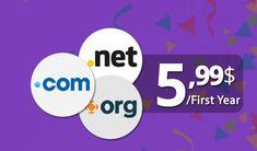 Grab a .COM/.Net/.Org For $5.99 + Free Whois at AtakDomain.  #atakdomain #domain #coupon #com #net #org 1st Year, Coupons, Company Logo, Logos, Free, Coupon, A Logo, Legos