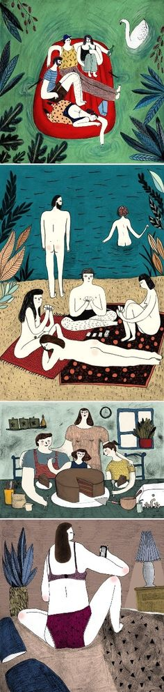 Celebrating summer one more time with Sophie Jackson's whimsical illustrations.