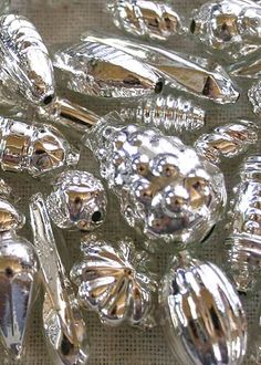 Silver Glass Beads From The Czech Republic