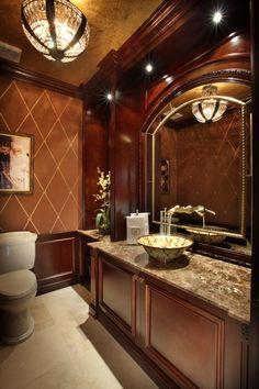 Powder Room by Brown's Interior Design - Luxe Interiors + Design
