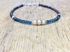 A personal favourite from my Etsy shop https://www.etsy.com/no-en/listing/569138772/dainty-blue-crystal-bracelet-blue-topaz