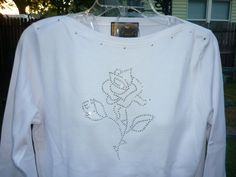 Hand Decorated 3/4 Sleeve BoatNeck TShirt by donnawynschenk, $20.00