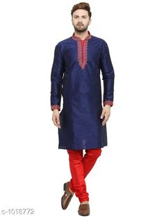 Kurta Sets Ethnic Fancy Jacquard Men's Kurta Set Fabric: Kurta- Jacquard Pyjama- Jacquard Sleeves: Kurta- Full Sleeves Are Included Size: Kurta- S M L XL XXL (Refer Size Chart For Details) Pyjama- S- 28 in M- 30 in L- 32 in XL- 34 in XXL- 36 in        Length: Kurta- Refer Size Chart Pyjama - Up To 50 in Type: Stitched Description: It Has 1 Piece Of Men's Kurta and 1 Piece Of Men's  Pyjama Pattern: Solid Country of Origin: India Sizes Available: S, M, L, XL, XXL   Catalog Rating: ★4.2 (388)  Catalog Name: Men's Ethnic Fancy Jacquard Kurta Sets Vol 5 CatalogID_122818 C66-SC1201 Code: 917-1018772-9291