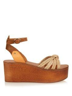 Zia wooden flatform sandals | Isabel Marant | MATCHESFASHION.COM US