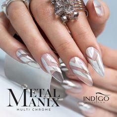 MetalManix Multi Chrome #nails #nail #indigo #metalmanix #multichrome #chrome…