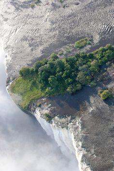 Cascada Touchdisky. Isla de Livingstone, Cataratas Victoria. Zambia.
