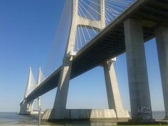 Vasco da Gama #bridge , #lisbon , #Portugal - 17 km