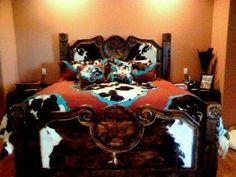 bedroom set #hairon #cowhide