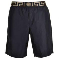 0b597910f6 Versace Iconic Greca Medusa Swim Shorts, Black