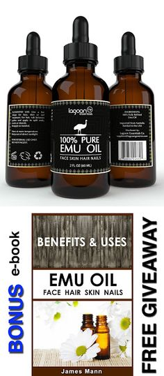 Emu oil for hair Emu Oil Pure 100% From Lagoon Essentials For Hair, Skin, Face, Nails, Wrinkles, Sunburns, Irritations, Scars, Acne, Stretch Marks, Burn Wounds and More. (2oz / 60ml) Bottle With Dropper + FREE E-Book. $15.99 & FREE Shipping on orders over $49.