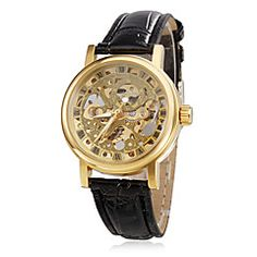 Women's Hollow Style PU Analog Mechanical Wrist Watch (Black). Grab substantial discounts up to 50% Off at Light in the Box using Coupons & Promo Codes