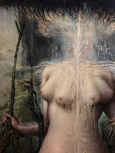 """agostinoarrivabene: """"apotheosis of Persephone. 2017 oil on ancient wood . """""""