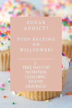 Stop using willpower. Get 5 FREE days of coaching to end sugar cravings! Best Paleo Recipes, Whole 30 Recipes, Delicious Recipes, Free Day, Feeling Hungry, Weight Loss Help, Sugar Cravings, Reduce Inflammation, Willpower