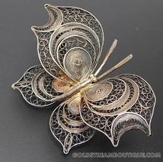 silver butterfly filigree ile ilgili görsel sonucu