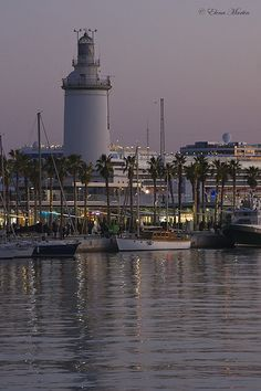 La Farola de Málaga	Port of Málaga	Costa del Sol 		 España 	36.714147, -4.414575   by Elena_Martin, via Flickr