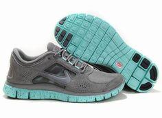 Women Nike Free 3 5.0 EXT in Gray Jade Blue Suede Run Shoes