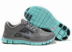 Women Nike Free 3 5.0 EXT in Gray Jade Blue Suede Run Shoes! Only $55.9USD