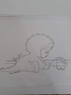 Dinosaur Crafts, Baby Art, Colouring Pages, Fabric Painting, Doodles, Clip Art, Embroidery, Drawings, Cute