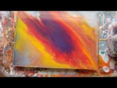 Acrylic Fluid Pouring With A Resin Like Finish Experiment Bottle Painting, Pour Painting, Liquid Paint, Acrylic Art, Abstract Paintings, Resin Artwork, Art Abstrait, Acrylic Pouring, Types Of Art