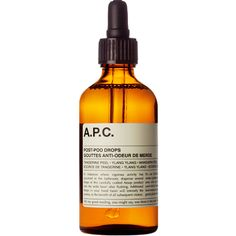 """Aesop/A.P.C. - """"post-poo-drops"""" oil to put in the toilet after flishing and replace horrible, chemical toilet spray!"""