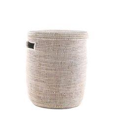 Woven Storage Laundry Basket - Flat Lid – connectedgoods.com